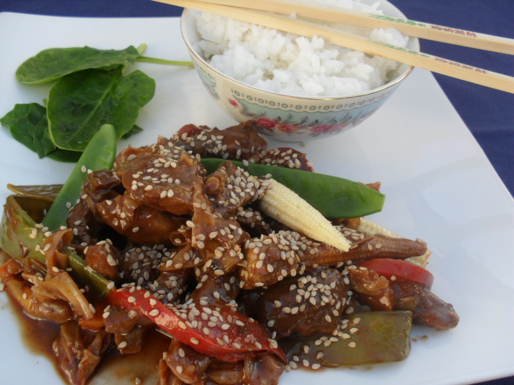 Ginger and Soy Stir Fry Pork with Jasmine Rice SAM 9225