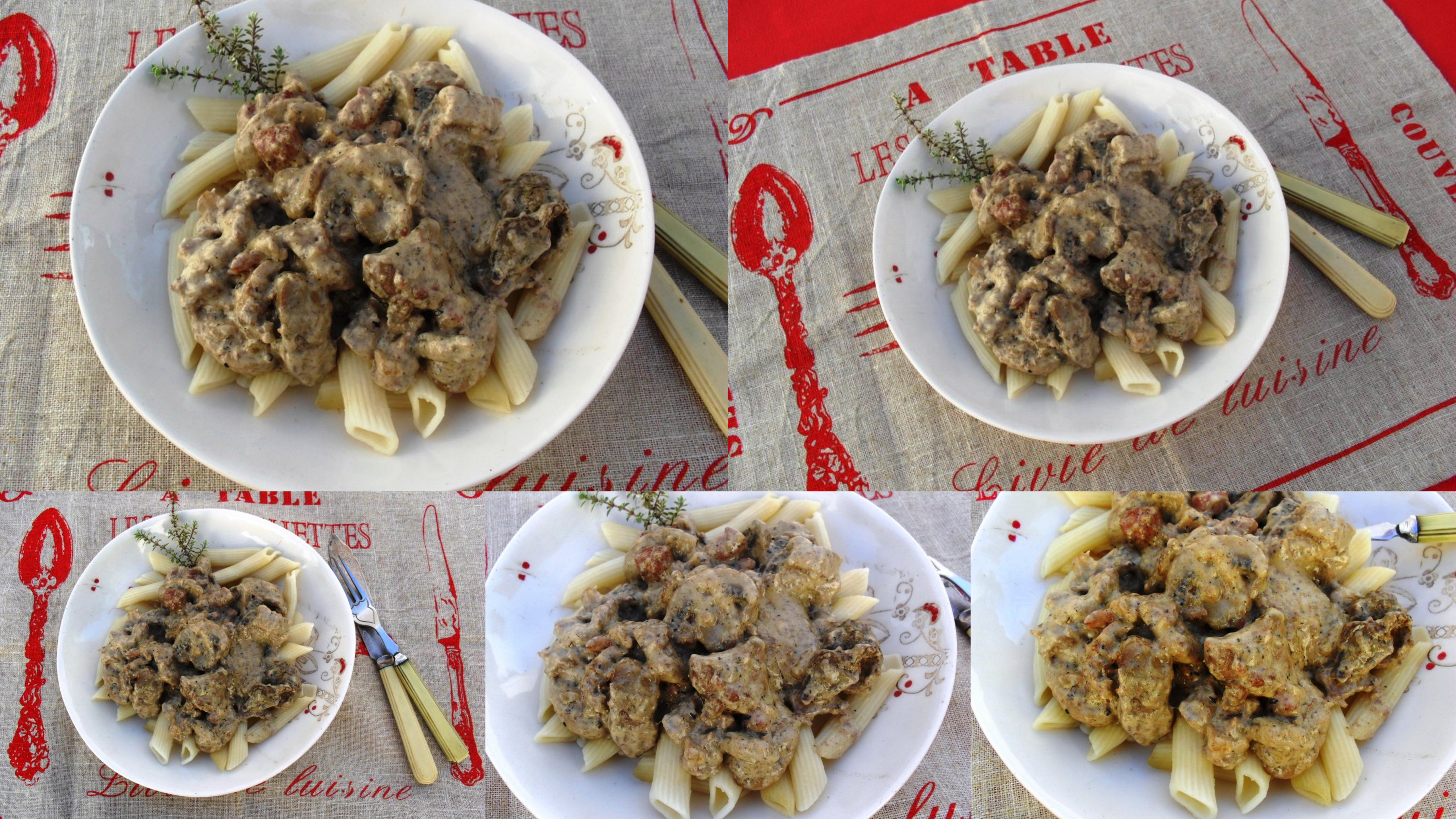 Chicken livers on pasta recipe