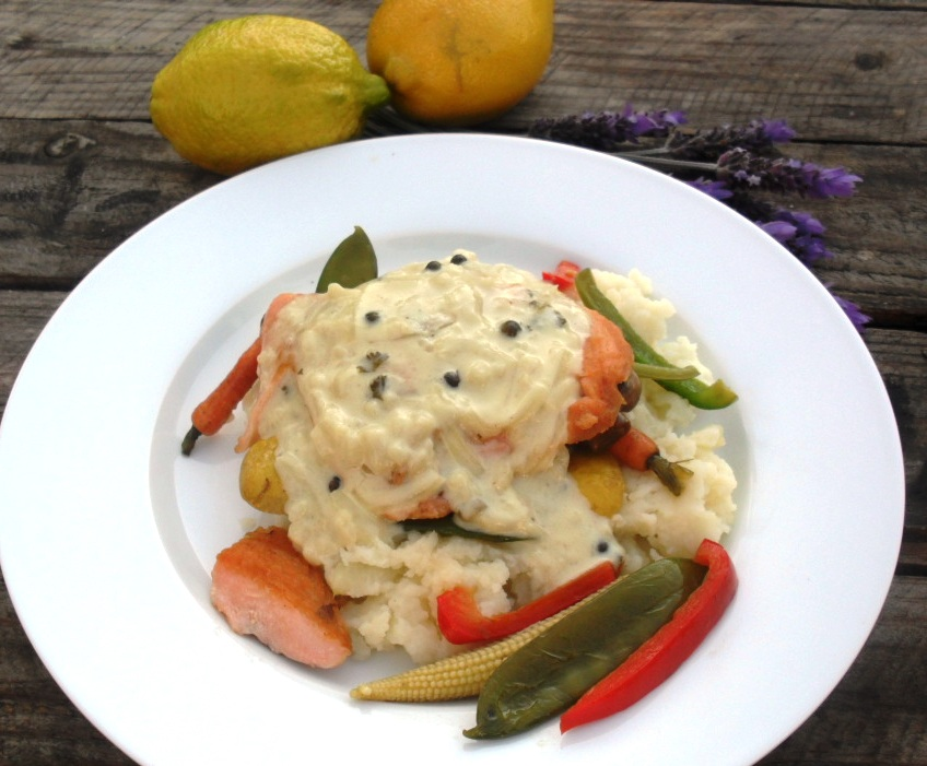 sauce roasted salmon with pink peppercorn sauce roasted salmon roasted ...