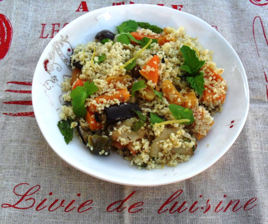 Roasted vegetable and coucous salad recipe