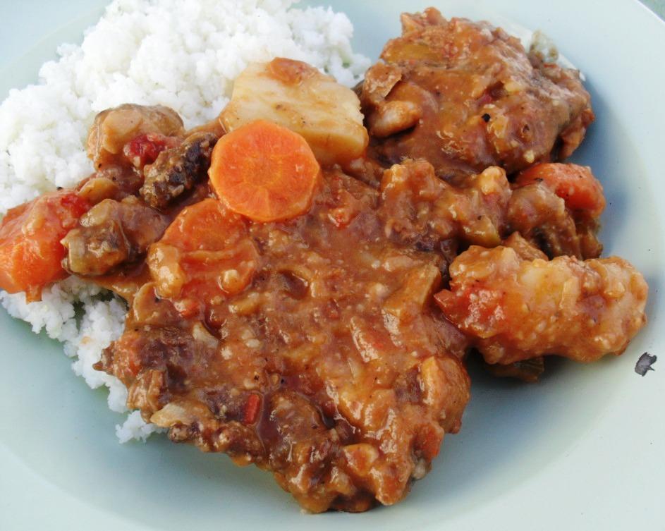 Ostrich neck and cannellini bean bredie recipe