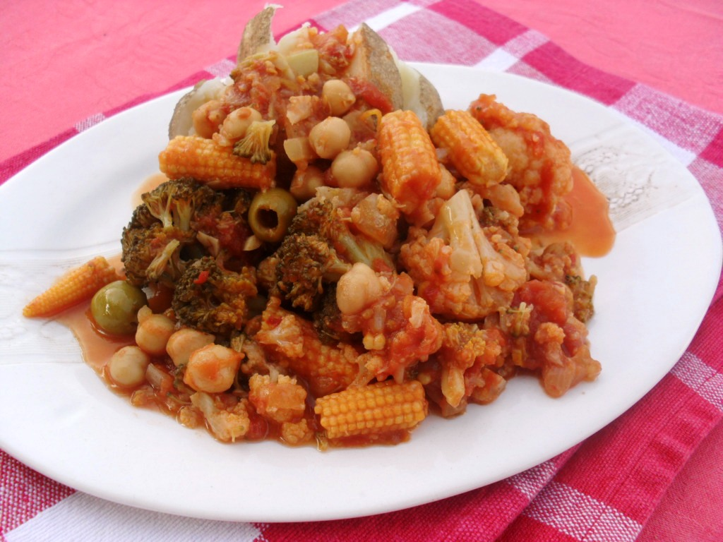 Spicy vegetables with Chickpeas recipe