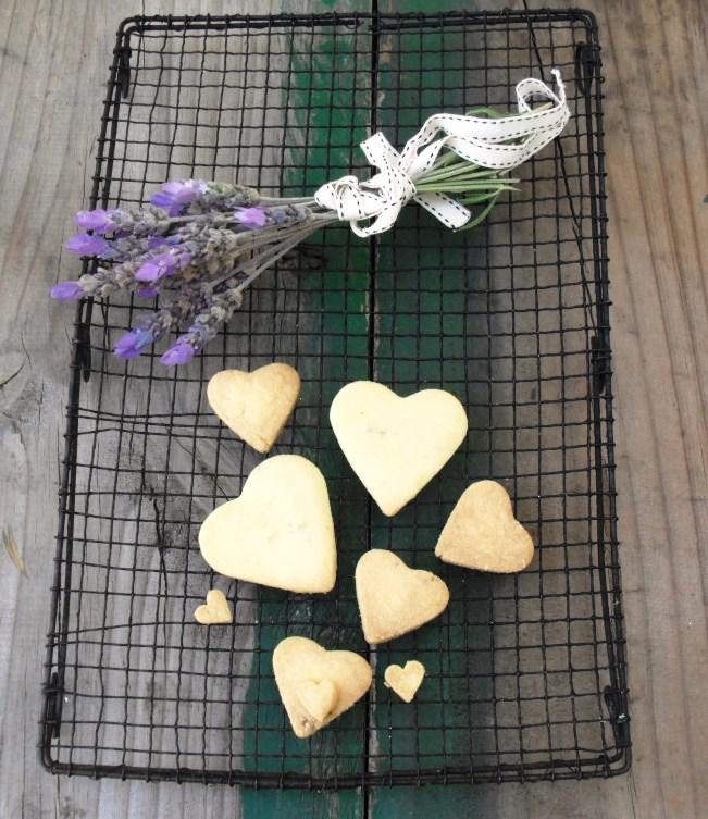 Recipe for lavender heart shortbread