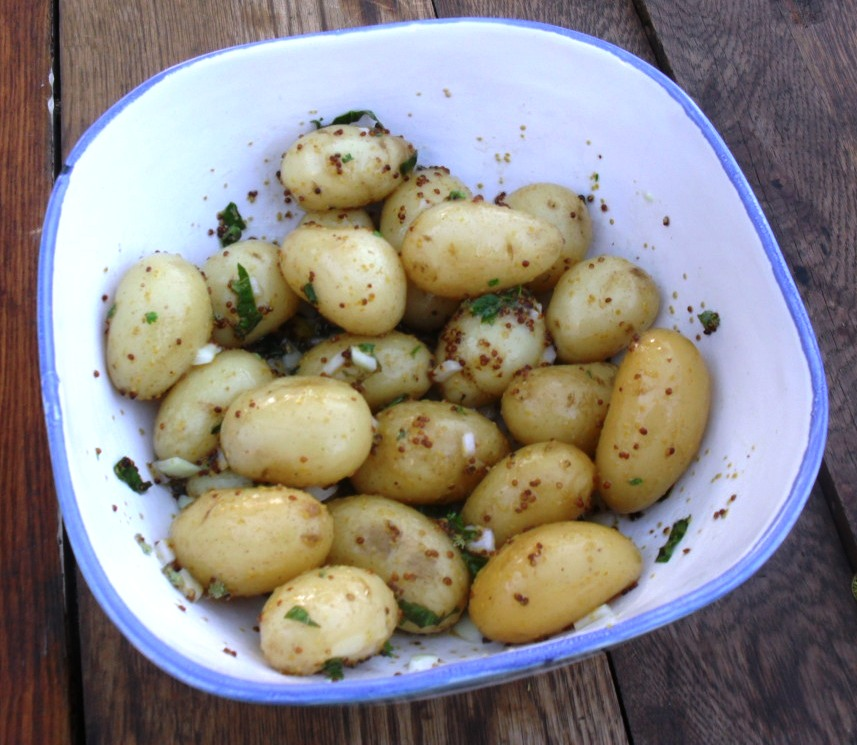 baby potato salad with fresh herbs