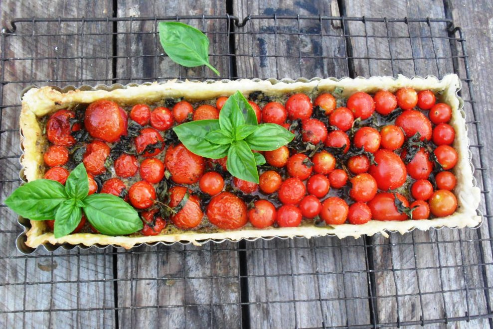 An easy recipe for a tomato and basil tart tomato tart