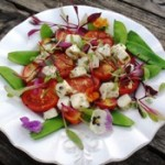 Hot haloumi salad