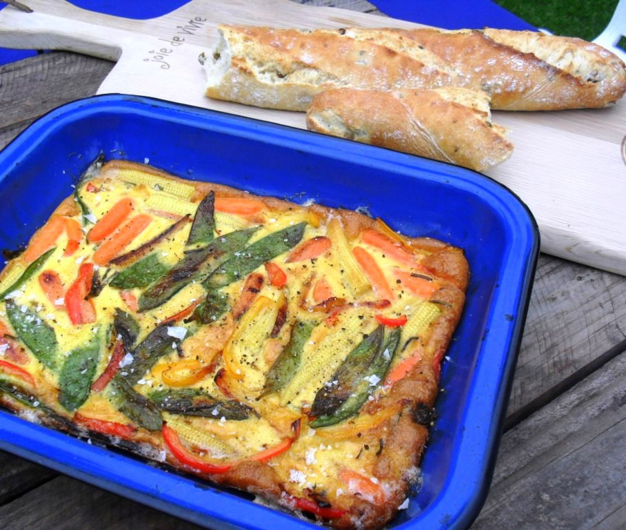 Stir fry vegetable frittata