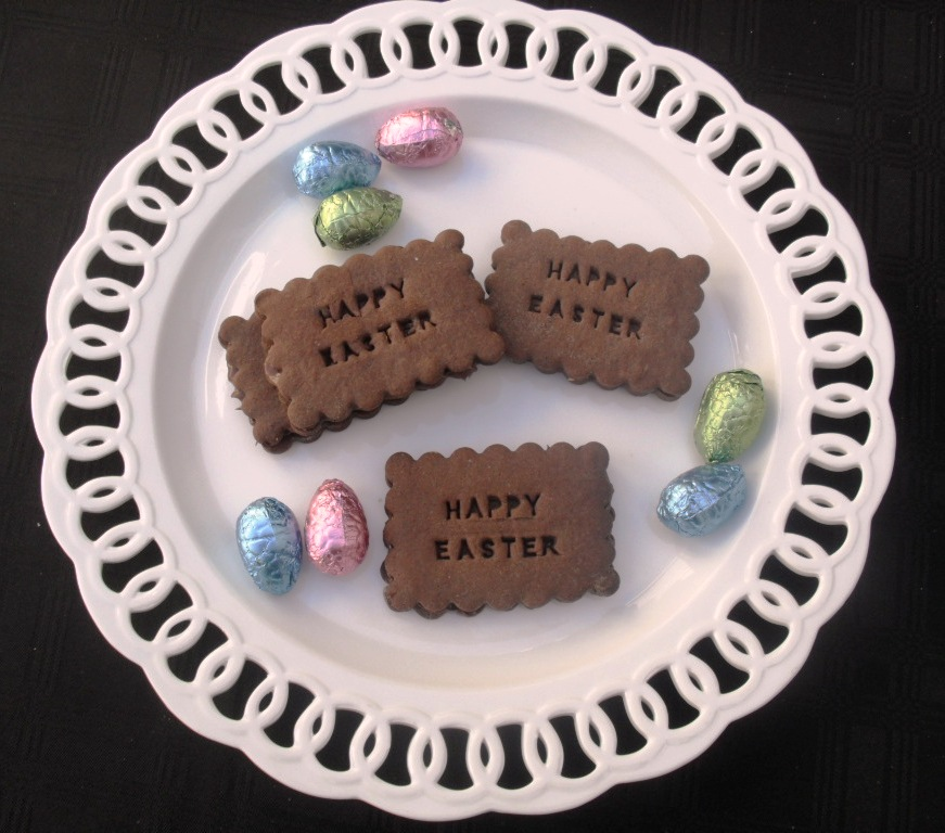 Chocolate biscuits for Easter