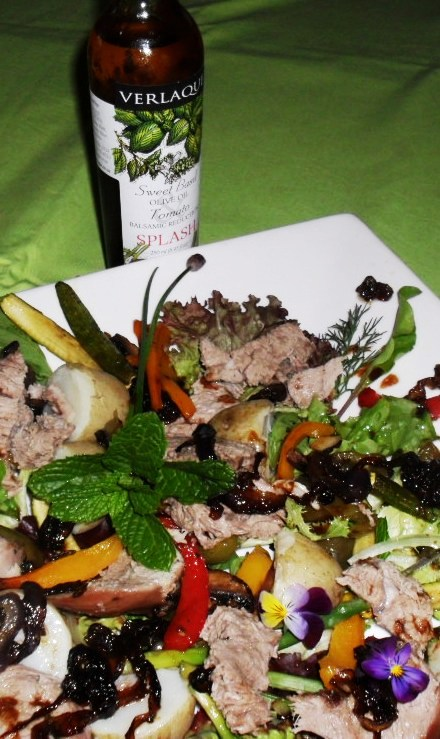 leg of lamb salad