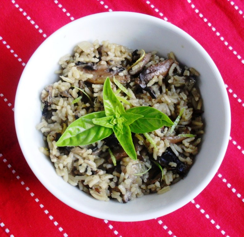 Mushroom and lemon risotto