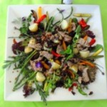 lamb and vegetable salad