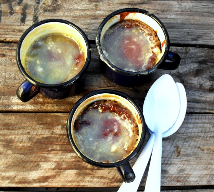 Old fashioned apricot jam pudding