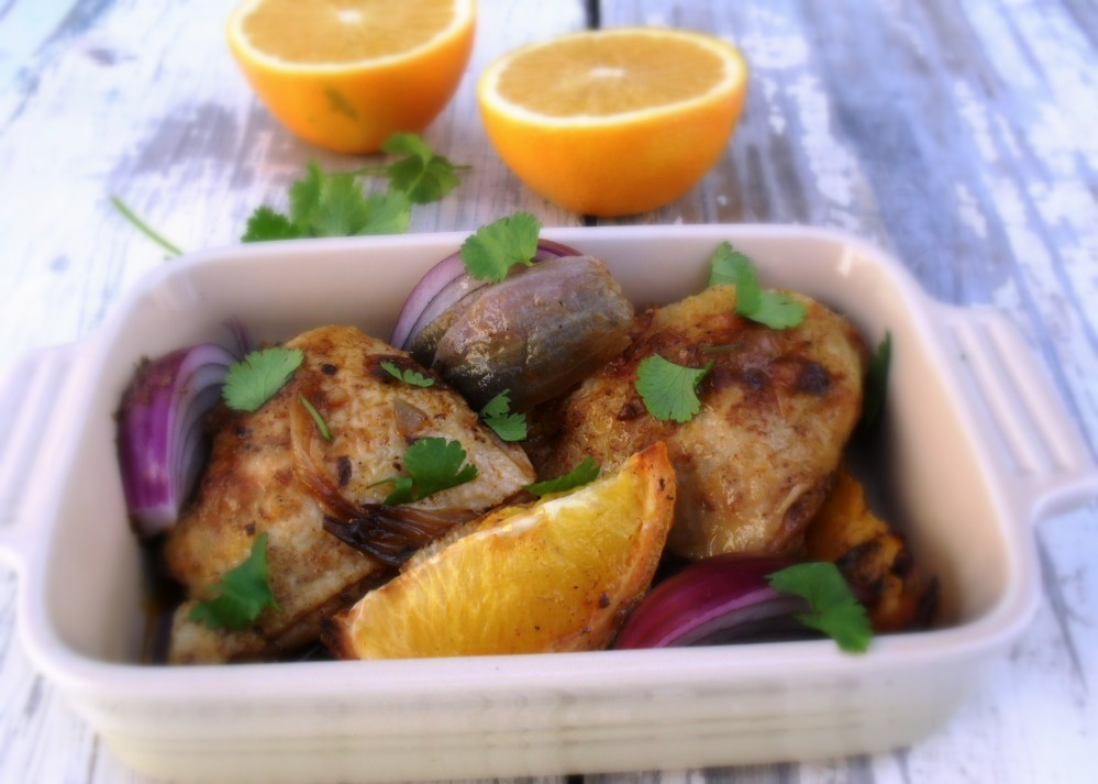 Chicken with oranges and red onions chicken and orange dish 2b