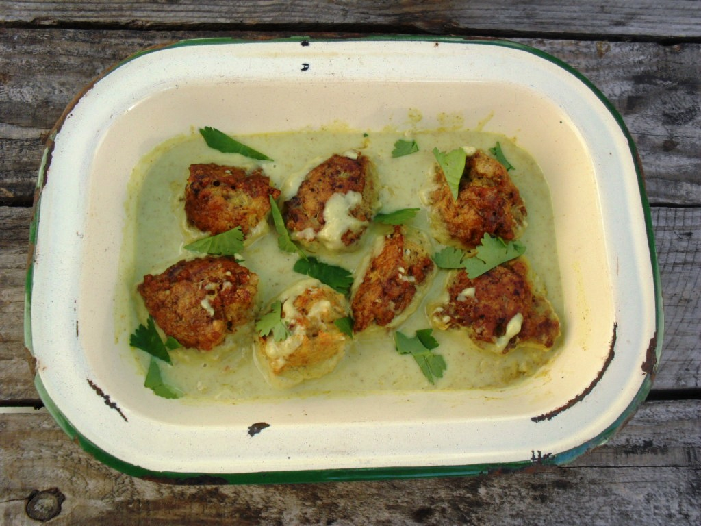 Spicy chicken meatballs in a coconut sauce chicken meatballs 2