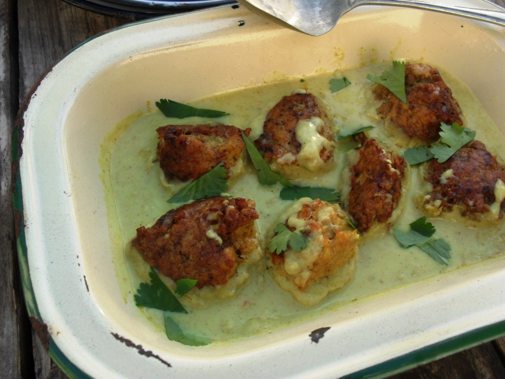 Spicy chicken meatballs in a coconut sauce chicken meatballs 6