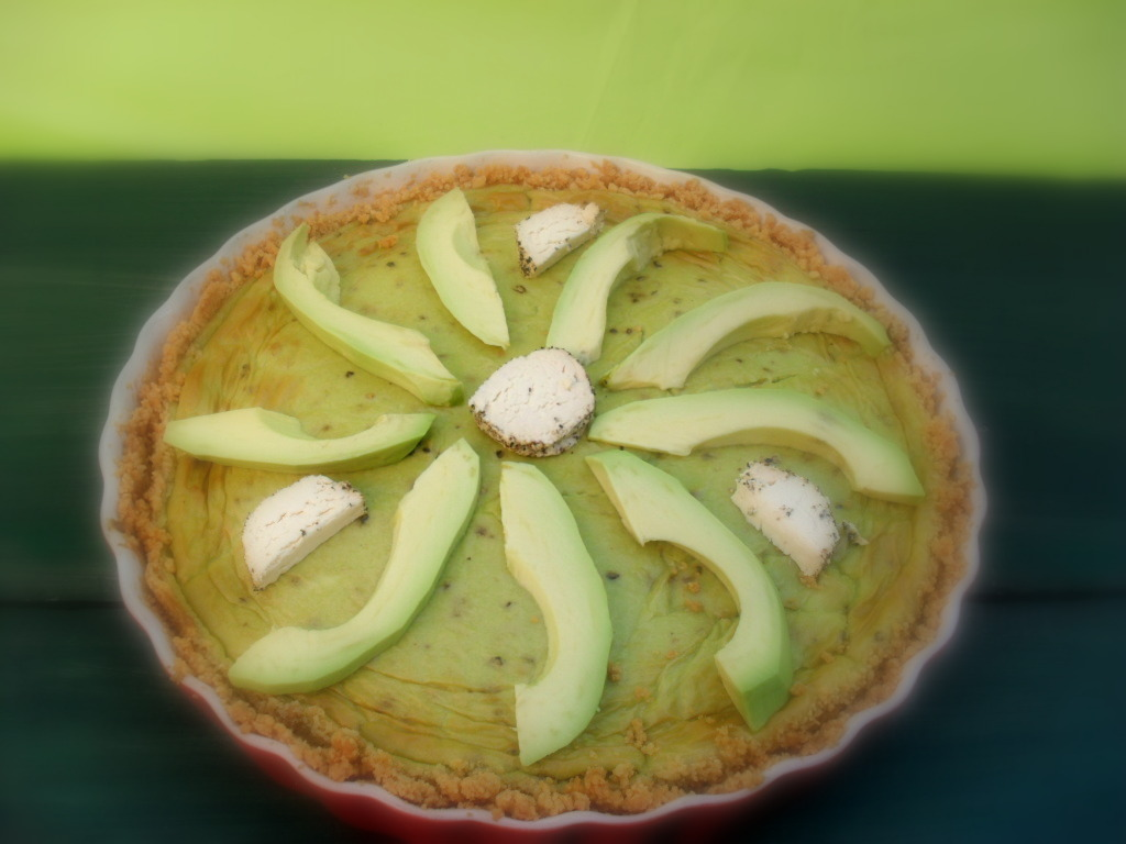Baked avocado cheesecake