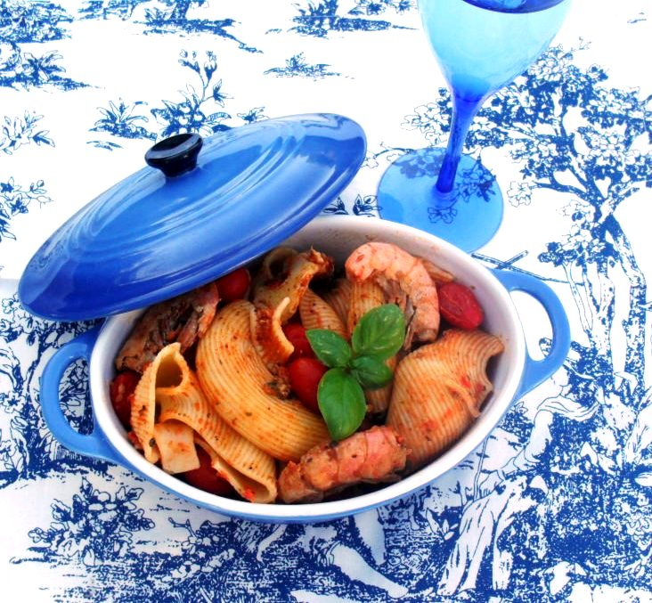 pasta with prawns