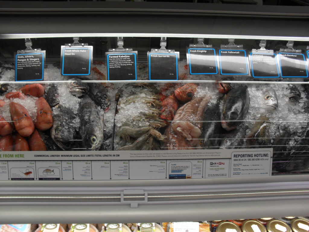Fresh Fish for sale at the V & A Waterfront's Pick n Pay