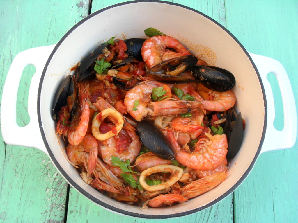 Seafood linguine resep