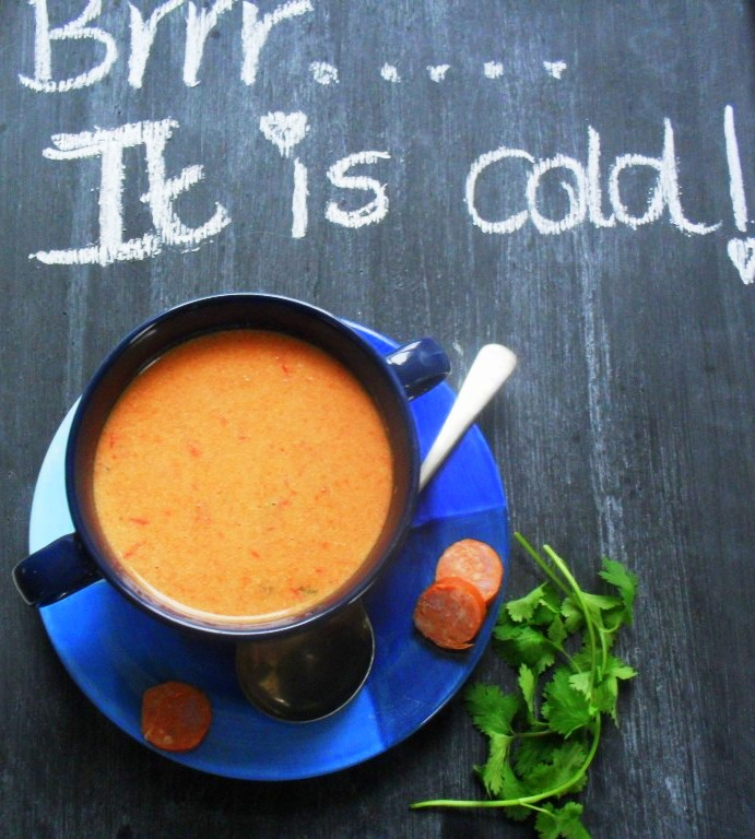 soup with peppadews