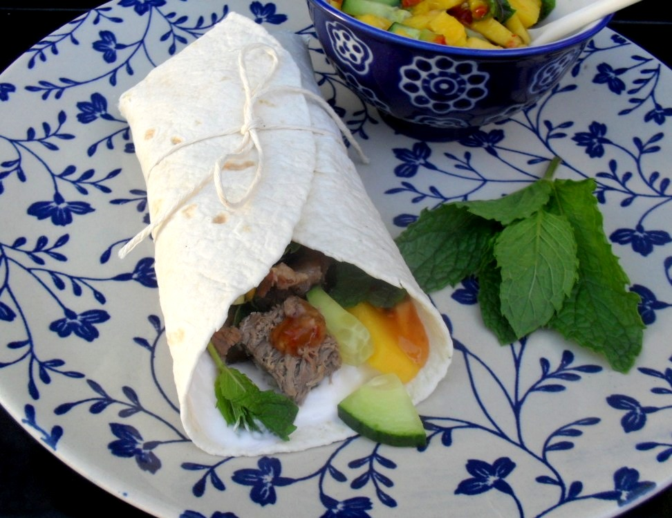 Lamb and mago in a wrap
