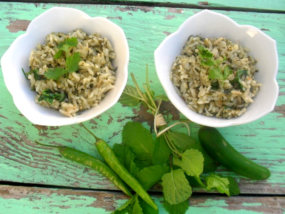 green rice recipe
