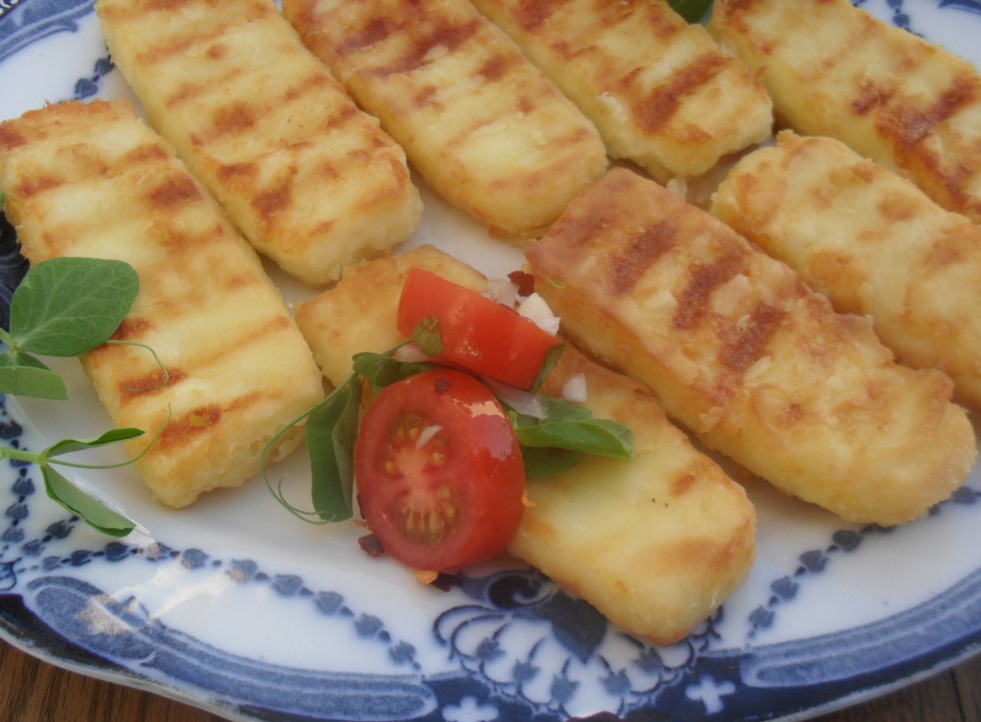 how to make fried halloumi cheese