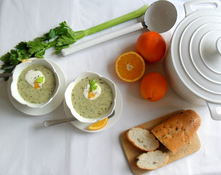 cream of celery soup with oranges