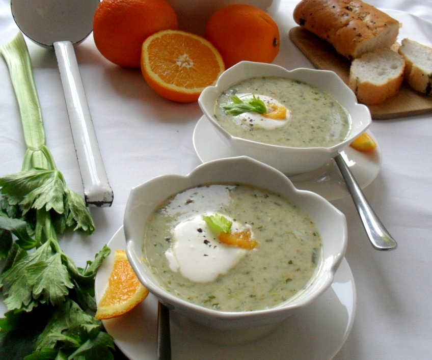 cream of celery and orange soup