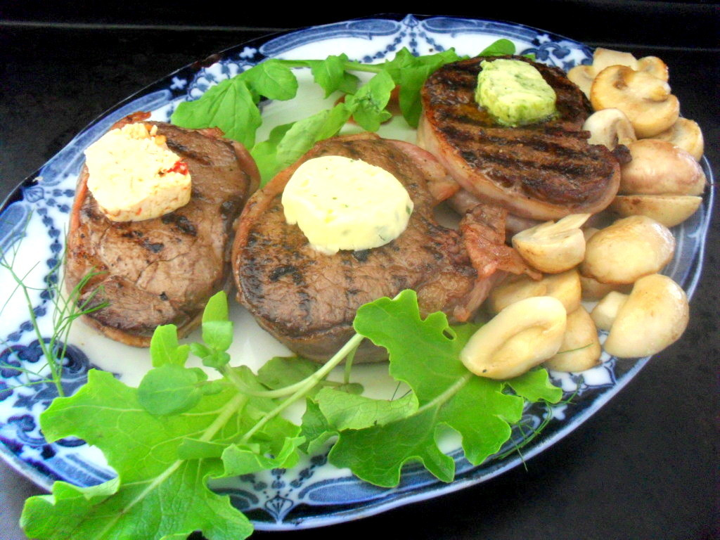 Fillet mignon with compound butter