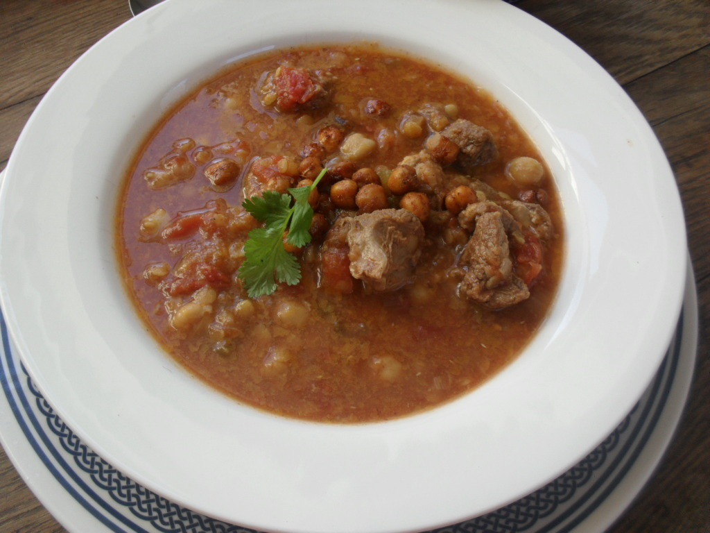... soup topped with spicy roasted chickpeas - Pink Polka Dot Food