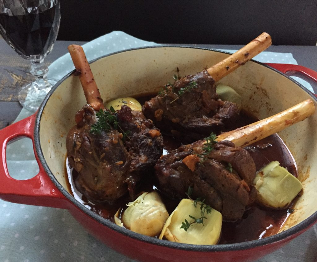 lamb shanks with artichokes