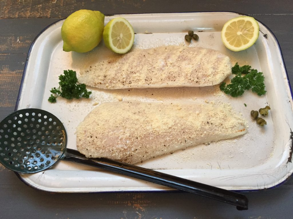 banting sole meunière prepared and ready to be cooked